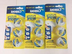 3 Packs Carbona On-the-Go Push & Wipe Laundry Stain Wipes Cl