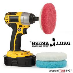 Bathroom Cleaning Power Scrubber Scouring Pad Kit