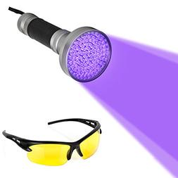 Blacklight Flashlight, 100 LED Ultra Violet UV Flashlight Ha
