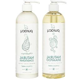 Puracy Natural Shampoo and Conditioner Set, Sulfate-Free Veg