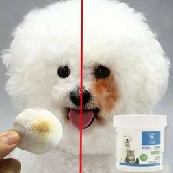 Dog Eye Tear Stain Remover Natural Pet Gentle Clean Wipes St