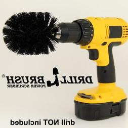 Drill Brush Cordless Drill Power Scrubber in Black