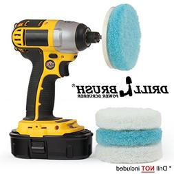 Drill Brush - Kitchen Accessories - Scrub Pads - Shower Clea