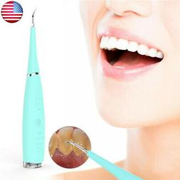 Electric Sonic Teeth Whitening Tool Polisher Tartar Plaque S