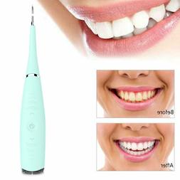 Electric Sonic Dental Tooth Stain Polisher Teeth Whitener Pl
