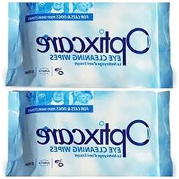 OptixCare Eye Cleaning Wipes , 2 Pack
