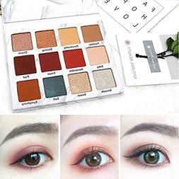 Eyeshadow Powder PaletteDEESEEFashion 12 Colors Cosmetic Mat