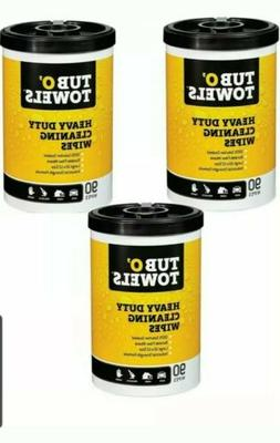 "Tub O Towels HeavyDuty 7"" x 8"" Size MultiSurface Cleaning Wi"