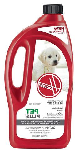Hoover PetPlus Pet Stain & Odor Remover Solution Formula, 32