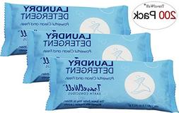 TRAVELWELL Individually Wrapped Travel Size Powder Laundry D