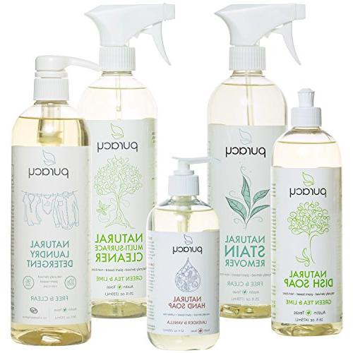 Puracy Home Care Set, Natural Household Cleaners and Soaps,
