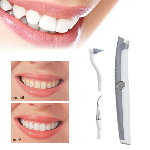 US STOCK Electric Sonic Tooth Stain Plaque Eraser Remover Or