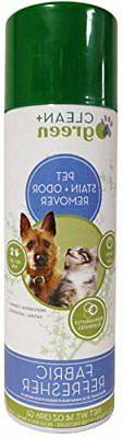 Clean+Green Fabric Refresher, Pet Odor and Stain Remover for