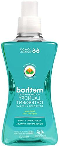 Method Concentrated Laundry Detergent, Beach Sage, 53.5 Ounc
