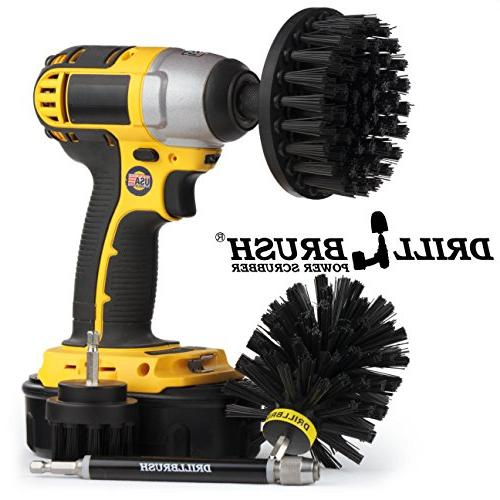 for Drill. Nylon Power Brushes Loose Paint Stripping, De-Scaling, Rust Removal Duty for stone, brick walls.