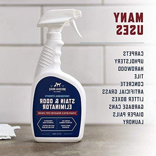 Rocco & Professional Strength Stain and Odor Eliminator, Odor and Remover for Dogs and Urine, Cleaner for Small 32 oz.