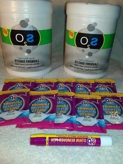 S2O Laundry Sheets 2 X 110ct Ocean Breeze Laundry Detergent