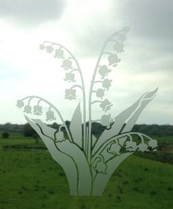 Lily of Valley Flower Frost Etch or Stained Glass Effect Win