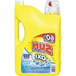 Sun Liquid Laundry Detergent plus OXI Stain Removers and Whi
