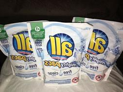 LOT OF 3 ALL LAUNDRY PODS / MIGHTY PACS 66 LOADS!!
