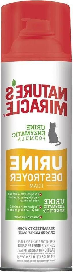 Nature's Miracle Just for Cats Urine Destroyer Foam 17oz  Fr