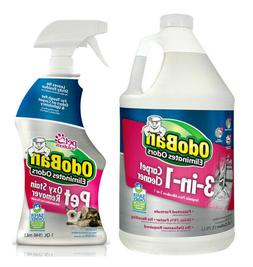 OdoBan Pet Oxy Stain Remover 32oz Spray Bottle and 3-n-1 Car
