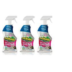 OdoBan Pet Solutions 32oz Spray Bottle Oxy Stain Remover, 3-