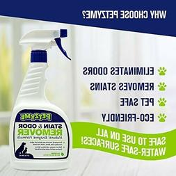 Petzyme Pet Stain Remover Odor Eliminator, Enzyme Cleaner fo