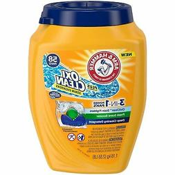 Arm Hammer Plus Oxiclean 3-in-1 Laundry Detergent Paks, 58 C
