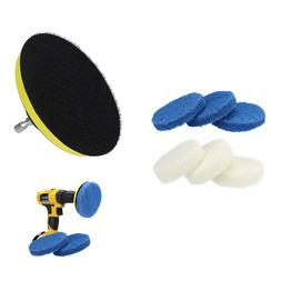 Power Scrubber Drill Plate Brushes Household Cleaning Sofa B