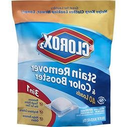 Clorox 2 Laundry Stain Remover and Color Booster Pack, 40 Co