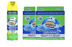 In Tank Toilet Bowl Cleaners Tablets Blue Scrubbing Bubbles