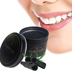 Natural Teeth Whitening,Black Activated Bamboo Charcoal Toot