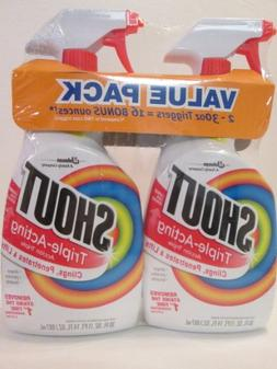 Shout Triple Acting Laundry Stain Remover Trigger Spray 30 O